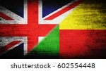 flags of great britain and... | Shutterstock . vector #602554448
