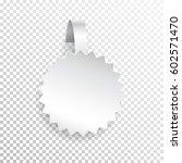vector white wobbler.template...   Shutterstock .eps vector #602571470