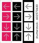 vector arrow set | Shutterstock .eps vector #602573630
