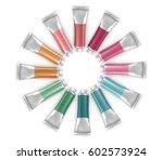 round frame of vector paint... | Shutterstock .eps vector #602573924