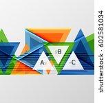 modern geometrical triangle... | Shutterstock .eps vector #602581034