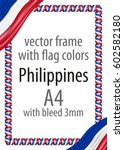 frame and border of ribbon with ... | Shutterstock .eps vector #602582180