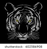 muzzle of a tiger | Shutterstock .eps vector #602586908