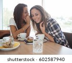 two young and beautiful women... | Shutterstock . vector #602587940