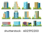 a modern city with skyscrapers. ... | Shutterstock .eps vector #602592203