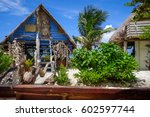 traditional tropical hut the... | Shutterstock . vector #602597744