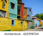 Small photo of Colorful houses in Caminito, Buenos Aires, Argentina