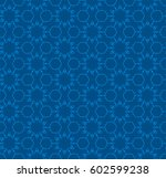 repeat blue background pattern. ... | Shutterstock .eps vector #602599238