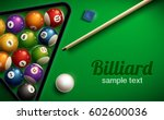 billiard table top view balls...