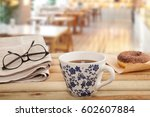 newspaper  and coffee | Shutterstock . vector #602607884