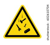 warning sign  symbol  vector ... | Shutterstock .eps vector #602610704