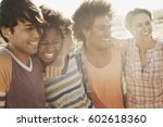 a group of friends  men and... | Shutterstock . vector #602618360