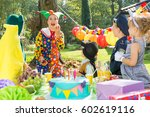 children and party entertainer... | Shutterstock . vector #602619116