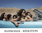 a group of friends in a pale... | Shutterstock . vector #602619194