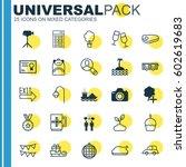 set of 25 universal editable... | Shutterstock .eps vector #602619683