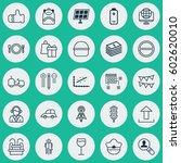 set of 25 universal editable... | Shutterstock .eps vector #602620010