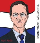 mark rutte  dutch politician ... | Shutterstock .eps vector #602620616