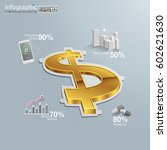 financial and economic... | Shutterstock .eps vector #602621630