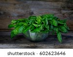 bunch of fresh raw organic... | Shutterstock . vector #602623646