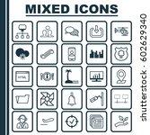 set of 25 universal editable... | Shutterstock .eps vector #602629340