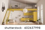 scandinavian minimalist loft ... | Shutterstock . vector #602637998
