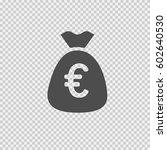 bag of euros vector icon eps 10 ... | Shutterstock .eps vector #602640530