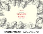 strawberry. vintage botanical... | Shutterstock .eps vector #602648270
