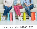 partial view of young women... | Shutterstock . vector #602651198