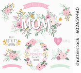 lovely mother's day element | Shutterstock .eps vector #602659460