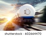 tanks with gas being... | Shutterstock . vector #602664470