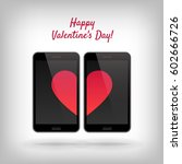 happy valentines day. ... | Shutterstock . vector #602666726