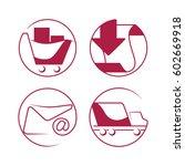 shopping e commerce beautiful... | Shutterstock .eps vector #602669918