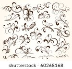 set of floral elements for... | Shutterstock .eps vector #60268168