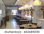 interior of a restaurant   Shutterstock . vector #602684030