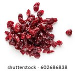 heap of dried cranberries... | Shutterstock . vector #602686838