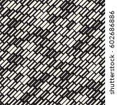 vector seamless black and white ... | Shutterstock .eps vector #602686886