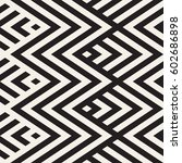 abstract zigzag parallel... | Shutterstock .eps vector #602686898