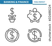 banking   finance icons....   Shutterstock .eps vector #602688224