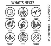 what's next icon set with big... | Shutterstock .eps vector #602690930