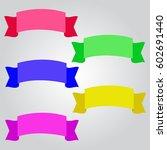 tape color set banner | Shutterstock .eps vector #602691440