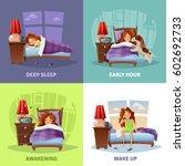 morning awakening 2x2 design... | Shutterstock .eps vector #602692733