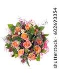 beautiful bouquet of flowers | Shutterstock . vector #602693354