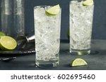 alcoholic vodka tonic highball... | Shutterstock . vector #602695460