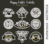 vector happy easter labels...   Shutterstock .eps vector #602700116