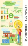 creative ecological infographic ... | Shutterstock .eps vector #602704154