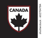 a canadian patch featuring a... | Shutterstock .eps vector #602704784