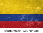 colombia   colombian flag on... | Shutterstock . vector #602704988