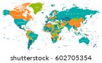 world map | Shutterstock .eps vector #602705354