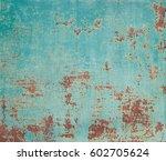 green rusty metal texture...   Shutterstock . vector #602705624