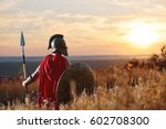 incognito warrior in iron... | Shutterstock . vector #602708300